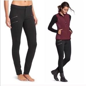 Athleta Black Zippered Leggings sz 6 Pants